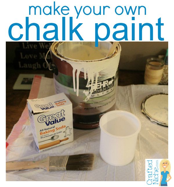 make your own chalk paint with latex paint and BAKING SODA!