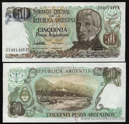 ARGENTINA. Billete de 50 pesos argentinos 1983
