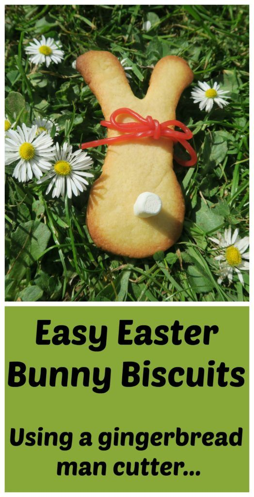 Easy Easter Bunny biscuits made using a simple gingerbread man cutter, mini marshmallow and strawberry shoelace. Perfect for parties or Easter baskets. www.freefromfarmhouse.co.uk