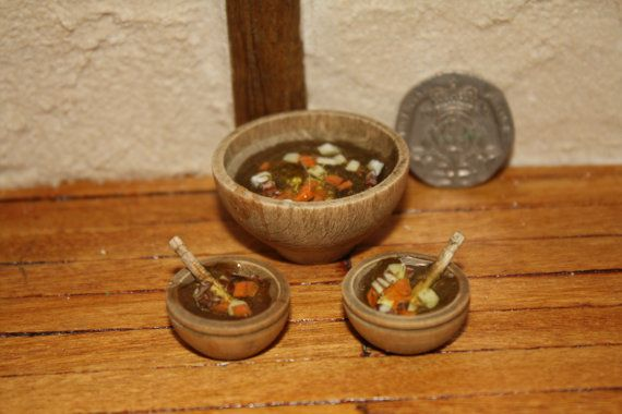 Medieval  tudor style small set of BOWLS by BlackRoseMiniaturesx, £6.00