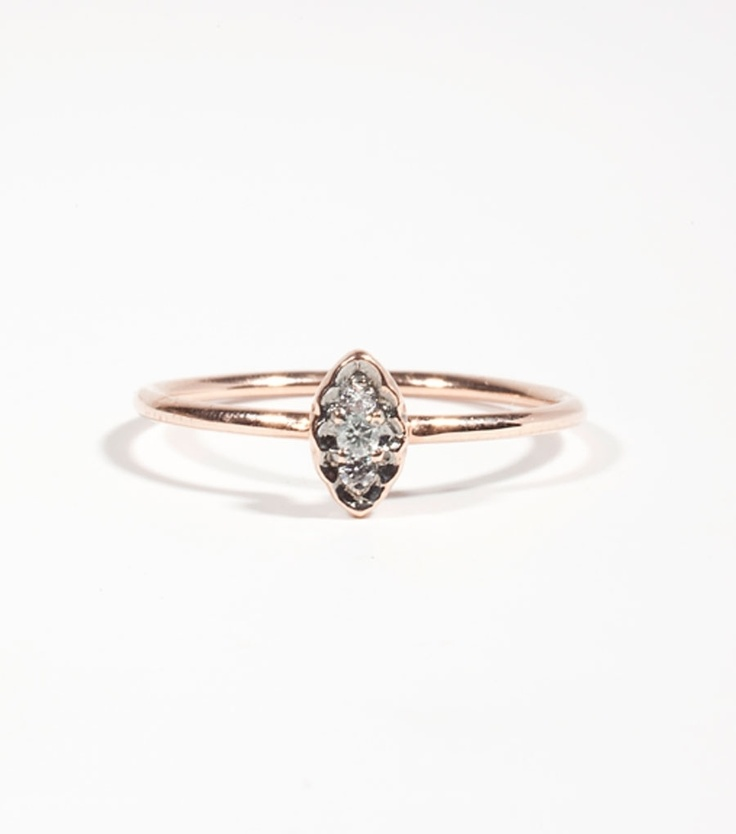 Blanca Monros Gomez rose gold and diamond filigree ring
