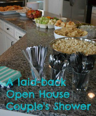 Laid back Open-House couples wedding shower something to think about depending on when it is.