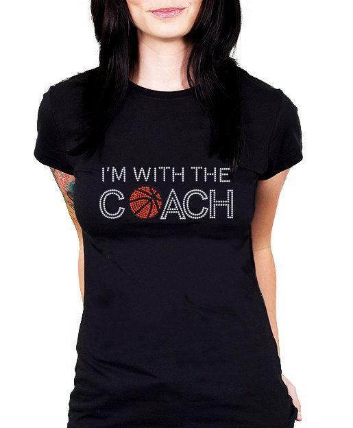 I'm With the Coach Basketball Rhinestone Shirt by RascoPrints, $18.99