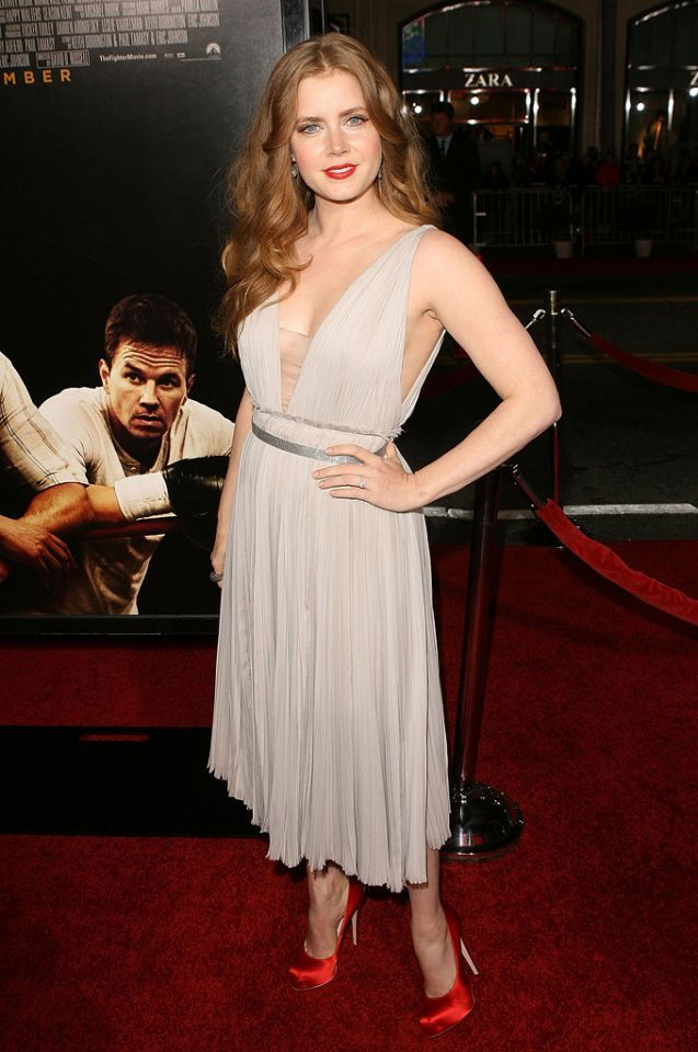 Amy Adams attends the Los Angeles premiere of The Fighter on December 6, 2010.