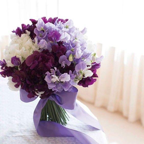 Tulle e confetti - Bouquet monofiore piselli odorosi 1 - Alchimie floreali