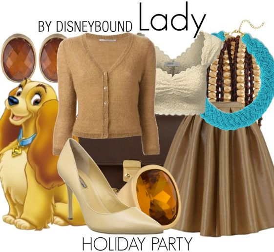 Look like a Lady in this Lady and the Tramp outfit. | Disney Fashion | Disney Fashion Outfits | Disney Outfits | Disney Outfits Ideas | Disneybound Outfits |