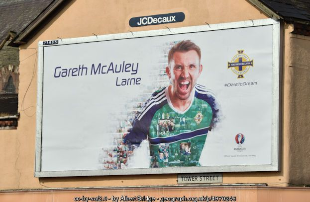 Northern Ireland - Euro 2016 poster... (C) Albert Bridge :: Geograph Ireland