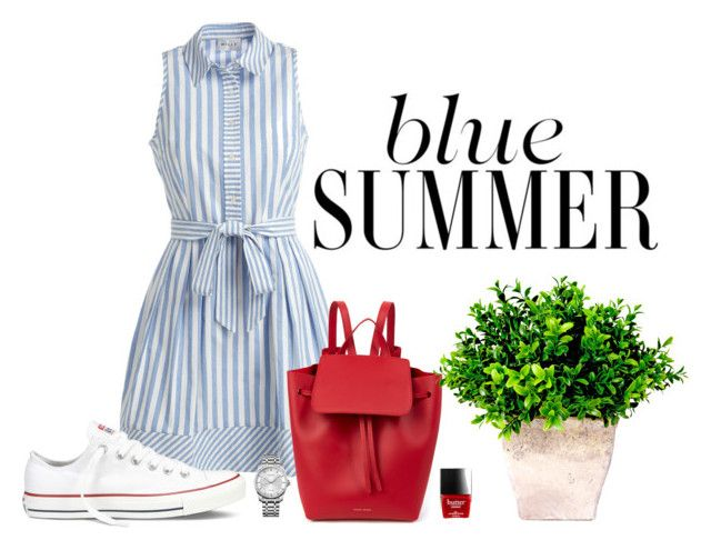 """Blue summer"" by bloobaz on Polyvore featuring Milly, Converse, Mansur Gavriel and Calvin Klein"