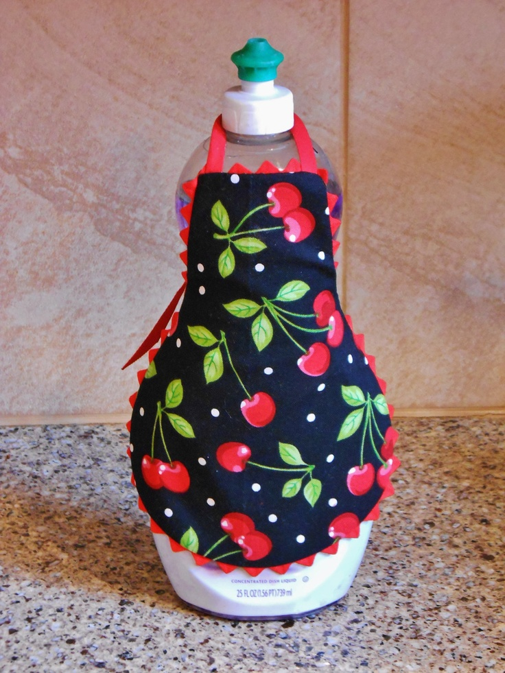 Cherry DISH SOAP APRON Cherries Soap Apron Red and by UnderTheVeil