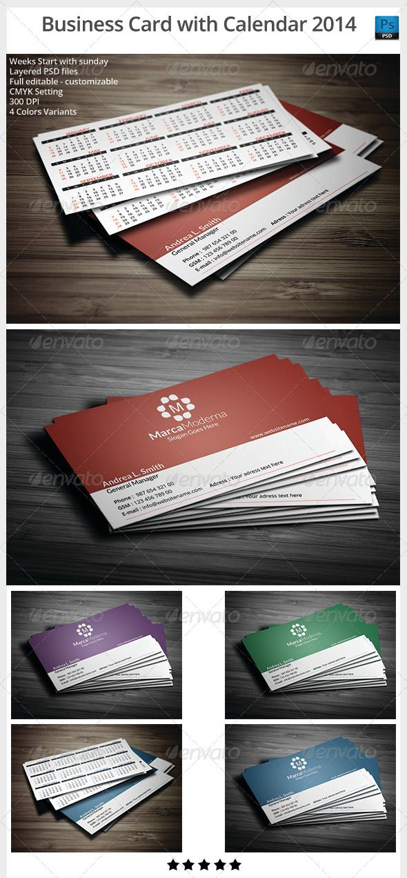 106 best print templates images on pinterest print templates font business card with calendar 2014 graphicriver full layered psd files customizable and editable cmyk setting reheart Image collections