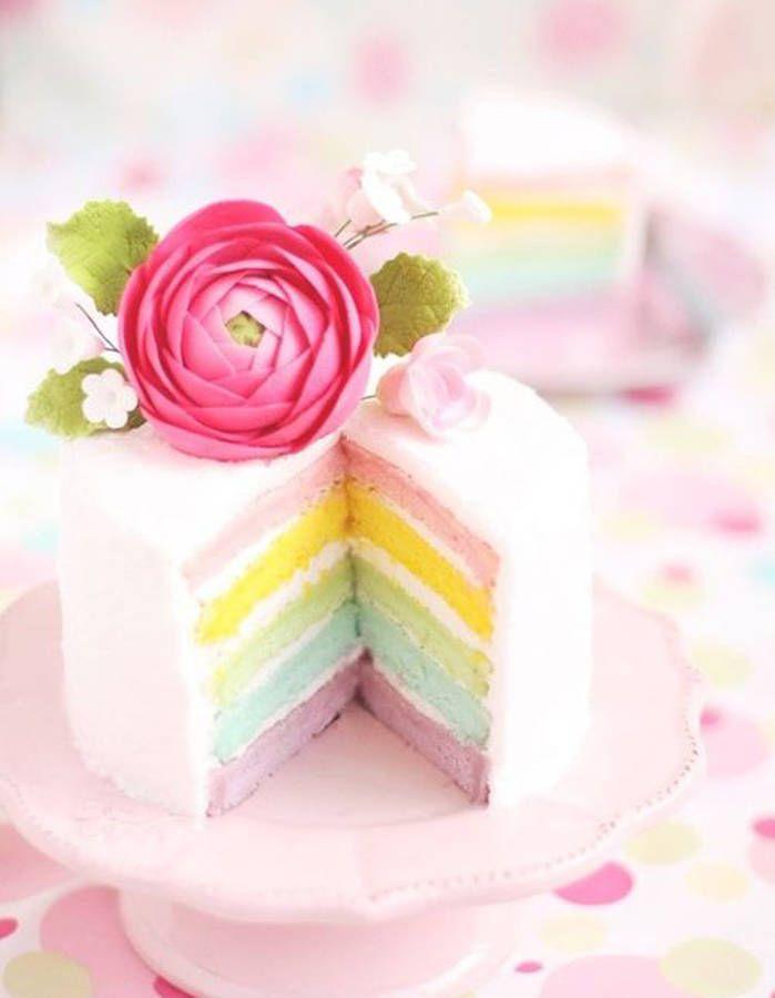 Rainbow cake pastel - Rainbow cake, les créations bluffantes de Pinterest - Elle…