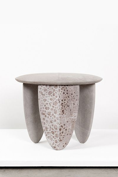 Wolffish stool 2012 wood vegetal tanned wolffish leather for Table extensible 90 90