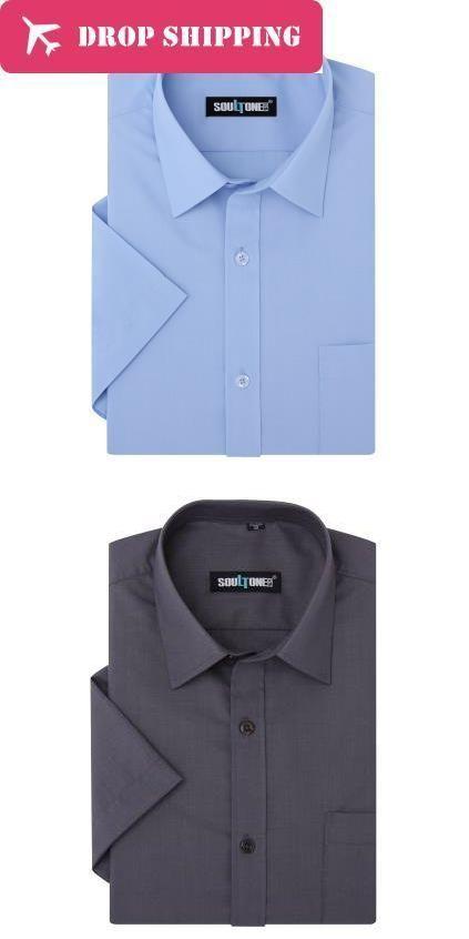 a1865a71f021 Dropshipping 5 Colors Big Tall (m-8xl) Men s Non-iron Short Sleeve Business  Dress Shirt