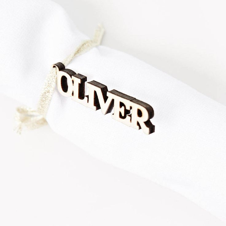 personalised napkin ties by sophia victoria joy | notonthehighstreet.com