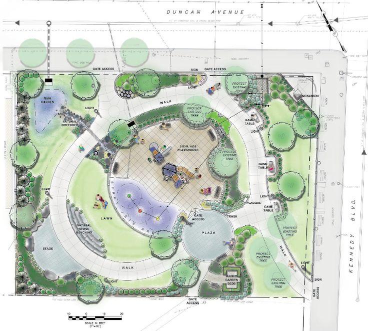 Park design t m v i google l a n d s c a p e park for Park landscape design