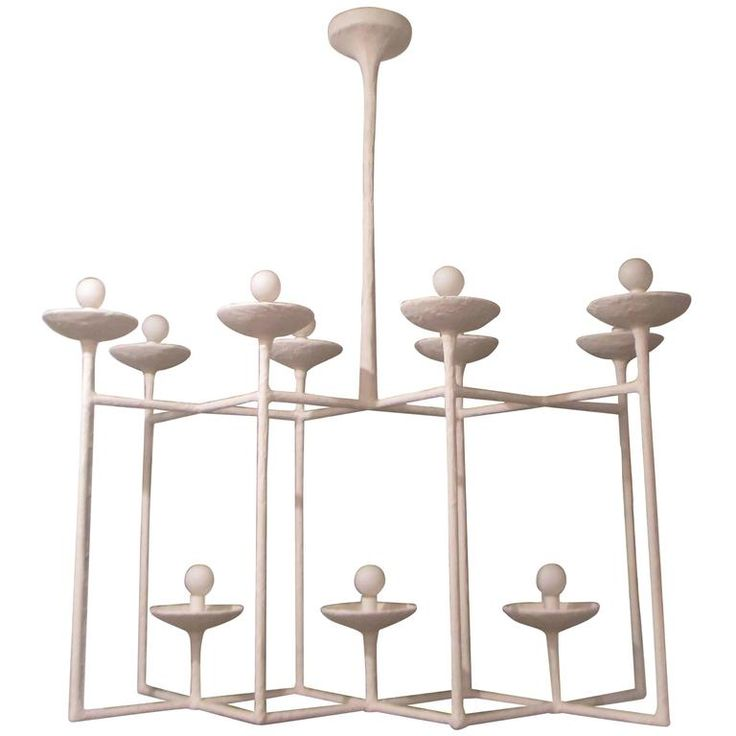 Plaster Fixture in the Manner of Giacometti | From a unique collection of antique and modern chandeliers and pendants at https://www.1stdibs.com/furniture/lighting/chandeliers-pendant-lights/