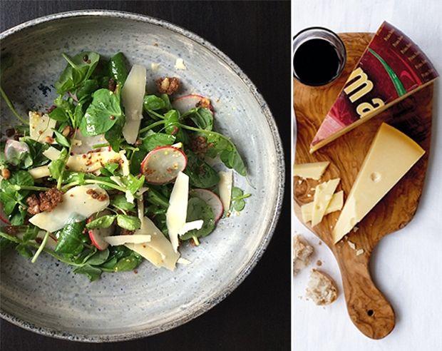 Her kan du se, hvordan du let og hurtigt laver en lækker, grøn radisesalat med Prima Donna og rugbrødsdrys.
