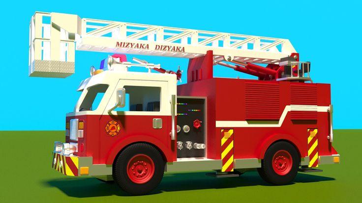 """""""Juego de construcción: camión de bomberos. Dibujos animados de camiones para niños en español. Learn Spanish."""" Esto es un dibujo animado educativo. ¡Vamos a..."""