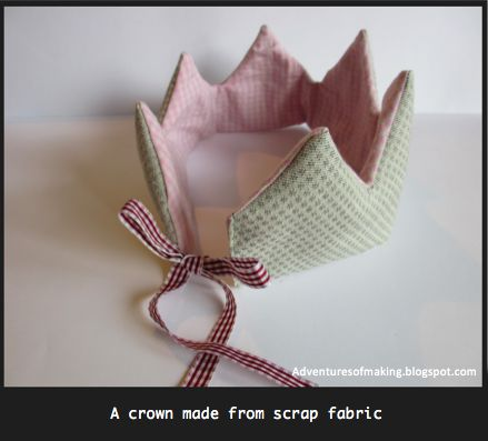 DIY fabric crowns for little princesses