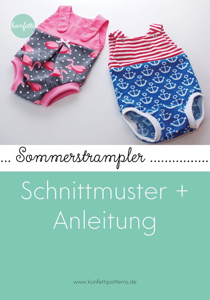 Nähspielanzug für den Sommer   – Babykleidung nähen mit Schnittmuster