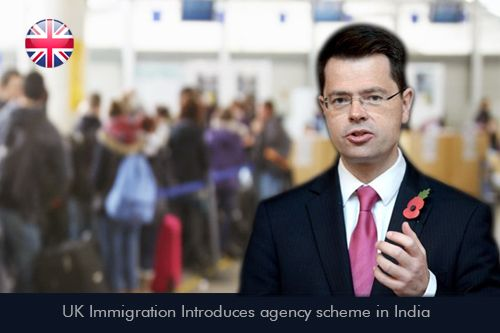 UK Immigration introduces an agency scheme program in India. This Programme main criterion  is to access the process of a visa application for travel agents and for clients says James Brokenshire