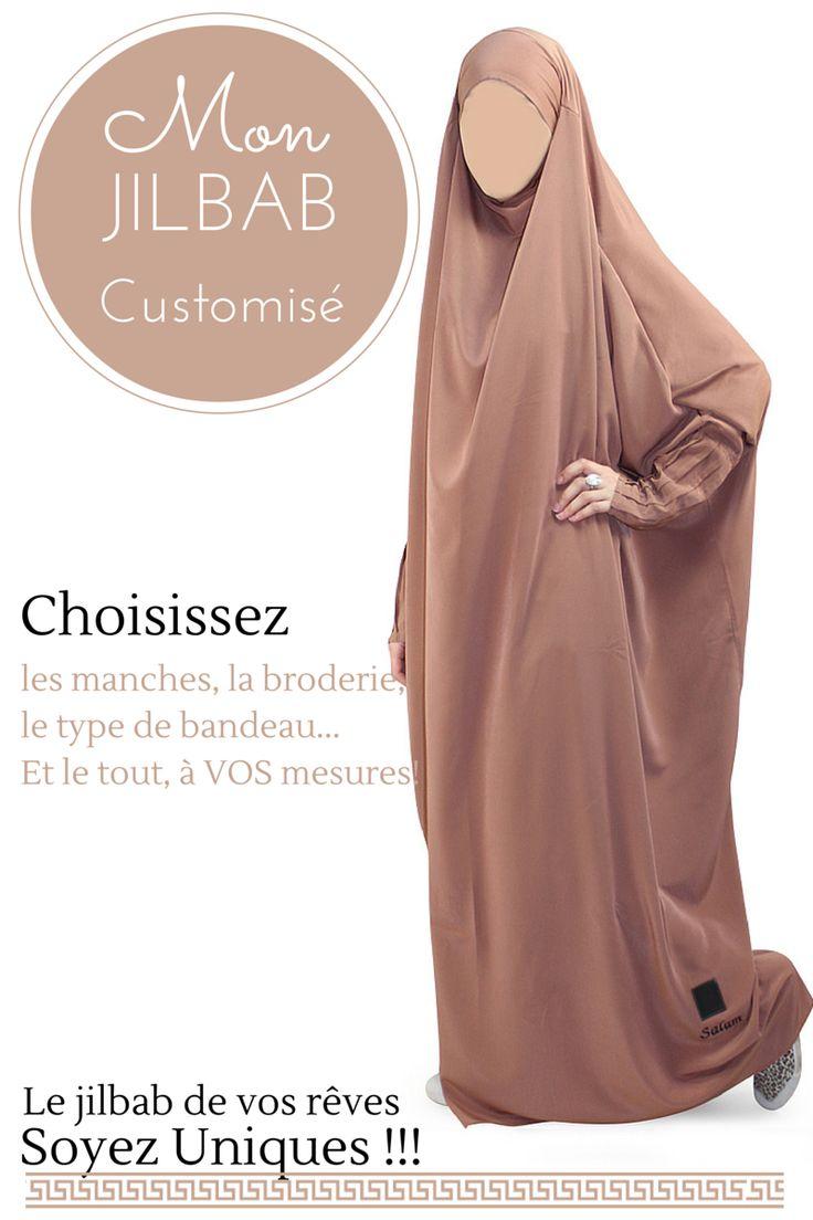 Jilbab sur mesure - Al Moultazimoun / #Overhead #khimar #jilbab #fur #cardigan…