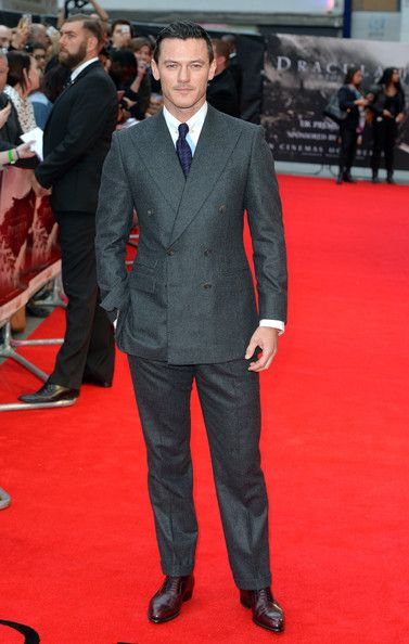 Luke Evans at the 'Dracula Untold' London Premiere #suits