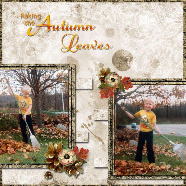 Raking the Autumn Leaves by Tbear. Kit used: Autumn Splendor http://scrapbird.com/designers-c-73/k-m-c-73_516/mamrotka-designs-c-73_516_85/autumn-splendor-p-16901.html