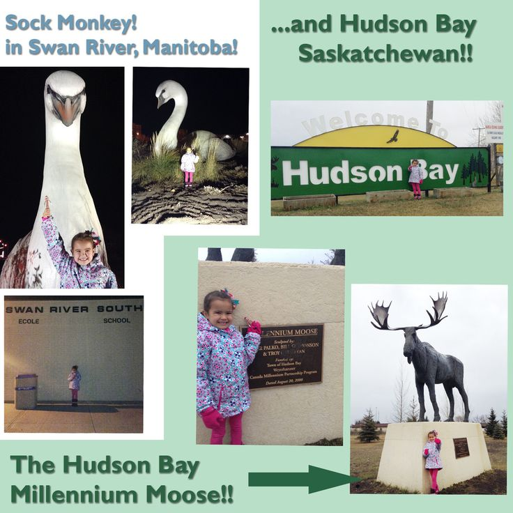 Sock Monkey in Swan River, Manitoba and Hudson Bay, Saskatchewan | Party Fun Box #TravellingSockMonkey