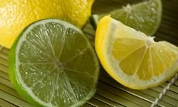 Use Citrus Sip lemon juice. Mix 1 tablespoon each of honey and lemon juice in 1 cup warm water and sip away. Drink lime juice. Combine 1 spoonful with a spoonful of honey and take as often as needed for a sore throat.