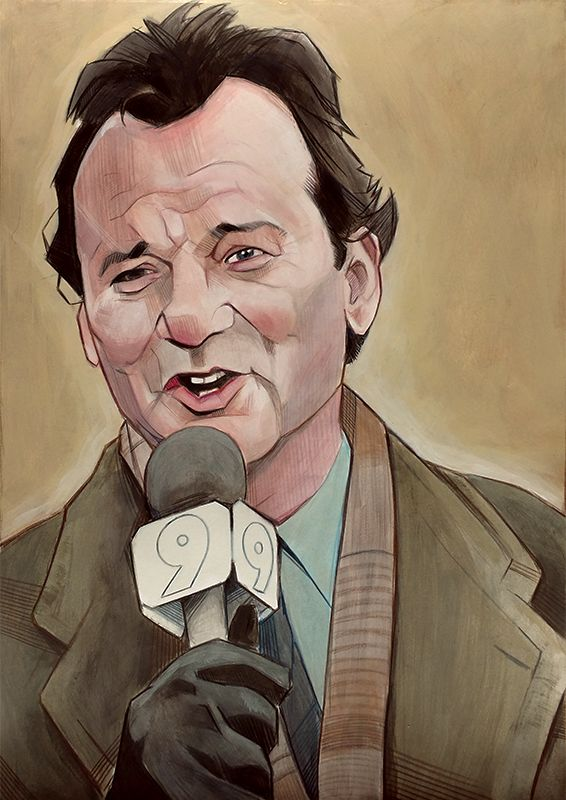 Bill Murray Phil Connors illustration painting