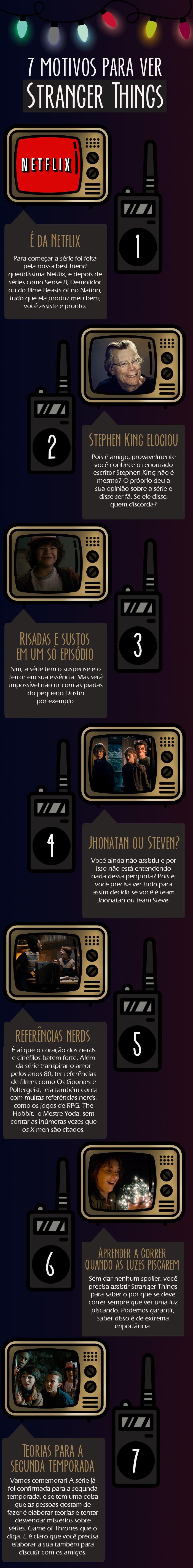 #SevenList #CabideColorido #Design #Infográfico #Art #TV #Series #Netflix #StrangerThings
