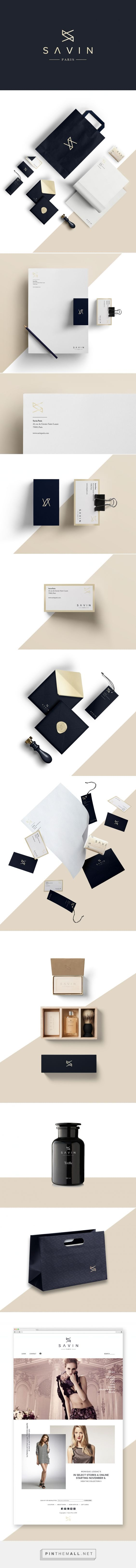 Savin Paris - fashion apparel on Behance - branding stationary corporate identity visual design label business card letterhead bag packaging website enveloppe logo minimalistic graphic design / Branding / Design / Brand / Inspiration / Fashion / Retailer / Sober / Elegant / Gold / Minimal / Minimalist /