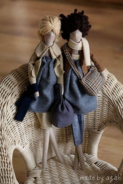 Chloe & Nola by made by agah, via Flickr