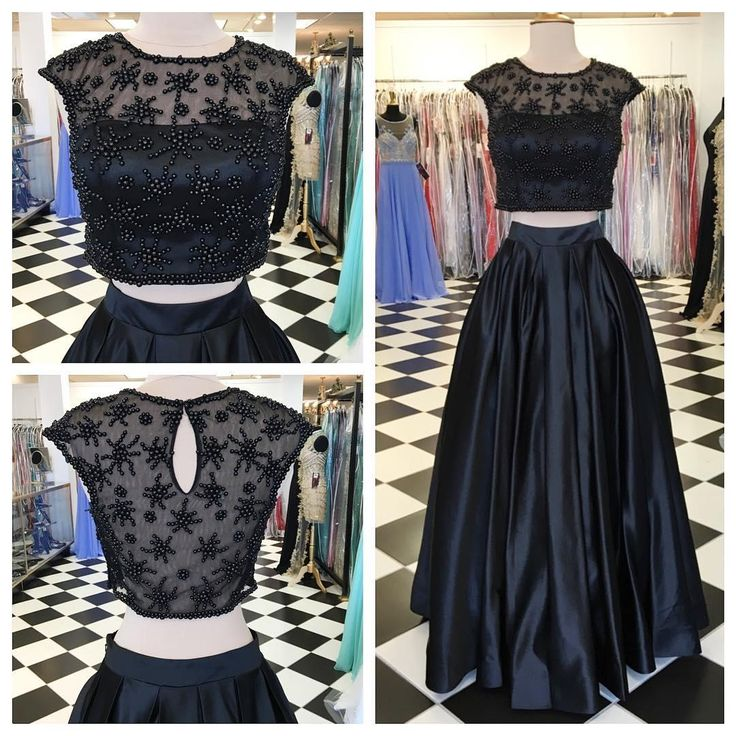 Prepare the cheap prom dresses online for the upcoming prom? Then you need to see  black two pieces prom dresses long fashion satin sheer jewel neck short sleeves floor length a-line illusion backless homecoming party dress in weddingdressesonline and other cheap red prom dresses and cheap white prom dresses on DHgate.com.