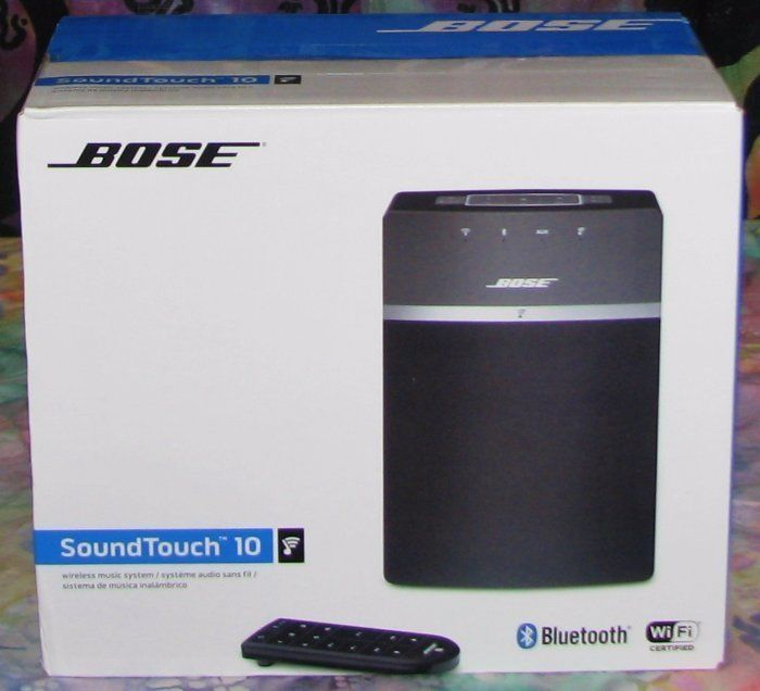 electronics: Bose Soundtouch 10 Wireless Music System With Remote Control New And Sealed Black BUY IT NOW ONLY: $164.99