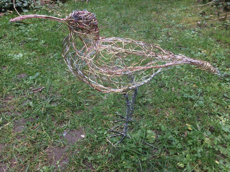 Wire Bird Sculpture Curlew