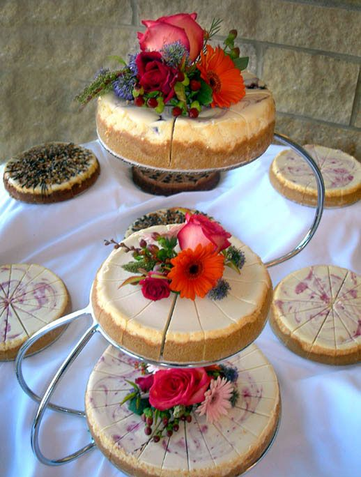 Desert Table - Wedding cheesecake!                                                                                                                                                                                 More