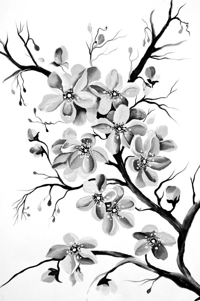 Cherry Blossom Tattoo Black And White Cherry Blossom Tattoo Blossom Tattoo Black Tattoos