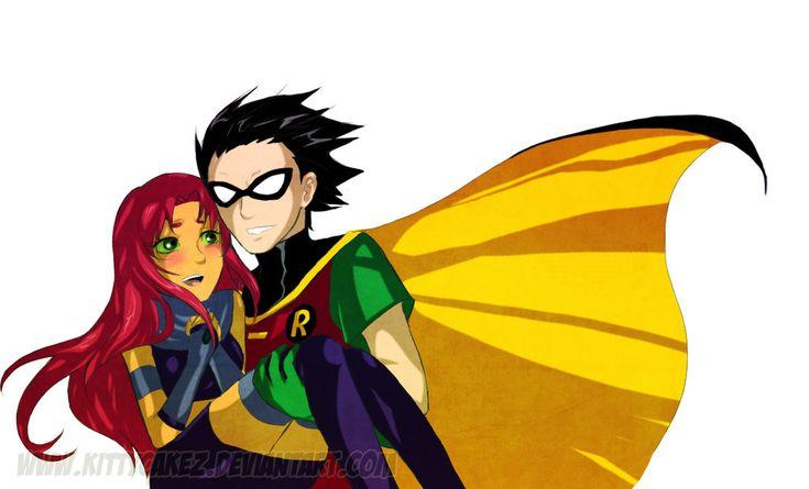 TT_Robin and Starfire by kittycakez.deviantart.com on @DeviantArt