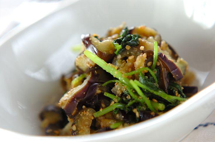 ナスのゴマ和えのレシピ・作り方 - 簡単プロの料理レシピ   E・レシピ