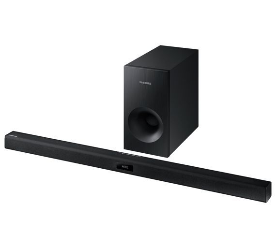 Buy Samsung HW-J355 120W Soundbar with Subwoofer at Argos.co.uk, visit Argos.co.uk to shop online for Sound bars, Home cinema systems and sound bars, DVD players, blu-ray players and home cinema, Technology