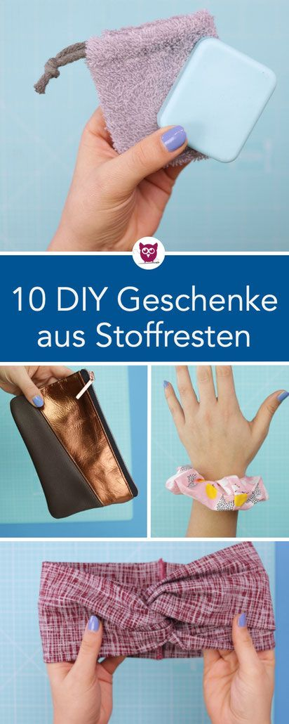 10 DIY Geschenkideen aus Stoffresten – DIY Eule:…