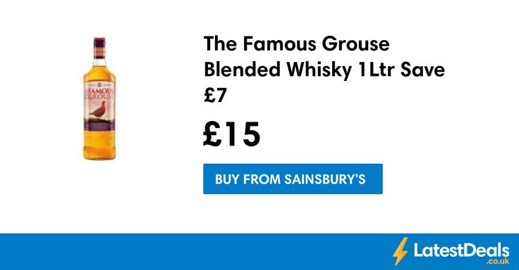 The Famous Grouse Blended Whisky 1Ltr Save £7, £15 at Sainsbury's