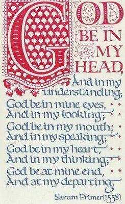 Celtic prayer.