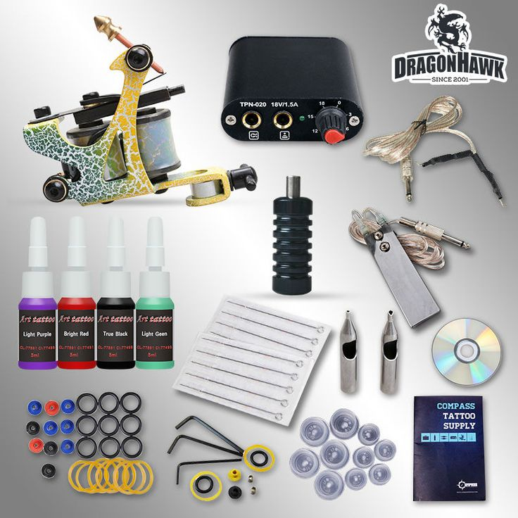 Beginner Tattoo Kit 1 Machine Professional Tattoo Video Guide #clothing,#shoes,#jewelry,#women,#men,#hats,#watches,#belts,#fashion,#style