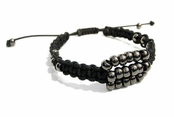 APOLLON men's beaded Bracelet-16007 by APOLLONmj on Etsy