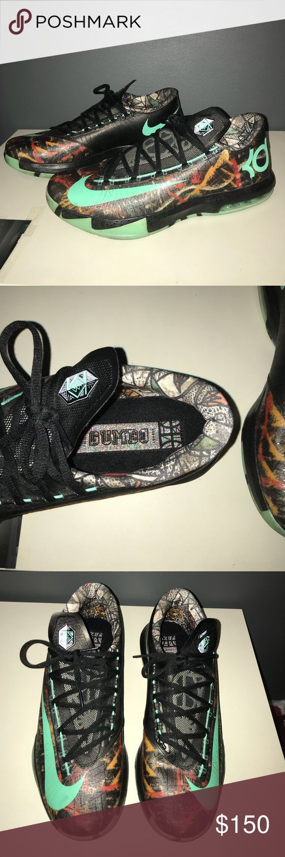 """KD 6 VI Mens Basketball Shoes - KD 6 - """"As Gumbo"""" KD 6 VI GUMBO Mens Basketball Shoes Kevin Durant 6 all Star LED KD 6 Glow Dark Sneakers. Worn 2x. Condition 9.5/10. SIZE 11 Nike Shoes Athletic Shoes"""