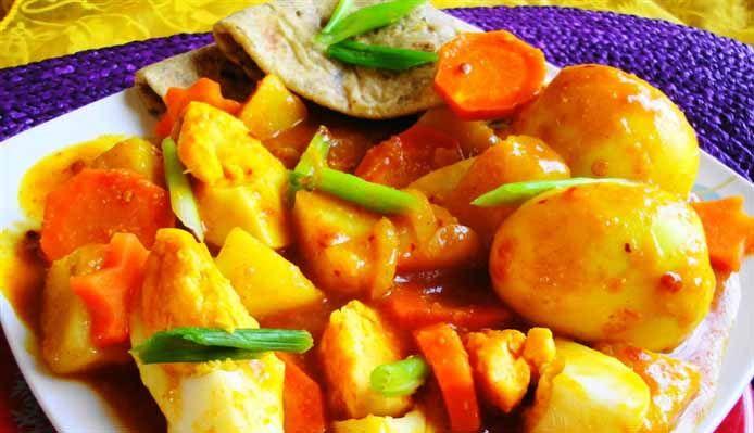 Surinaams eten – Roti Masala Ei (roti met ei in masala)