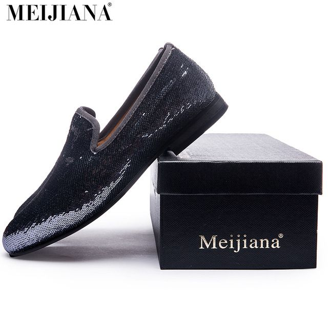 Check it on our site 2017 fashion Handmade Loafers Silver sequined men's shoes Luxury brand dress men's shoes men designer loafers shoes for men just only $39.50 with free shipping worldwide  #menshoes Plese click on picture to see our special price for you
